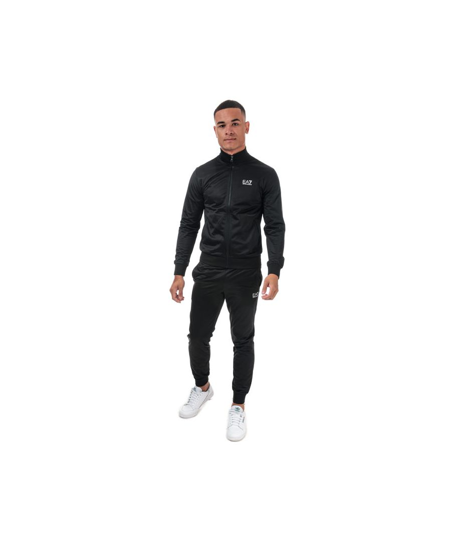 Image for Men's Emporio Armani EA7 Core ID Poly Tracksuit in Black