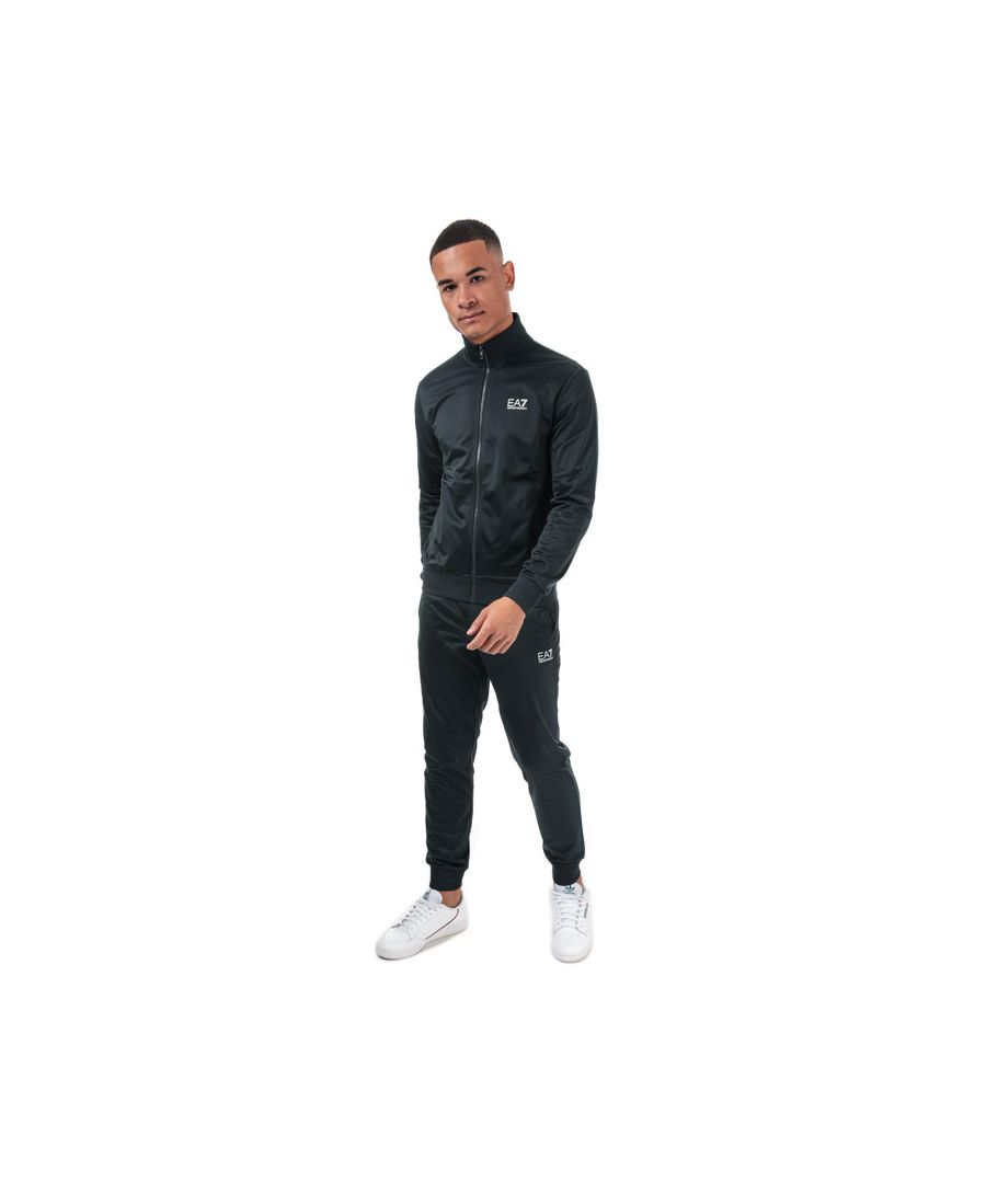 Image for Men's Emporio Armani EA7 Core ID Poly Tracksuit in Navy