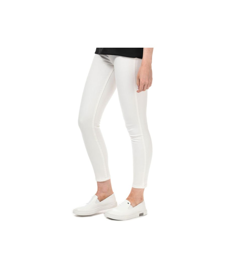 Image for Women's Armani Exchange J10 Super Skinny Cropped Jeans in White