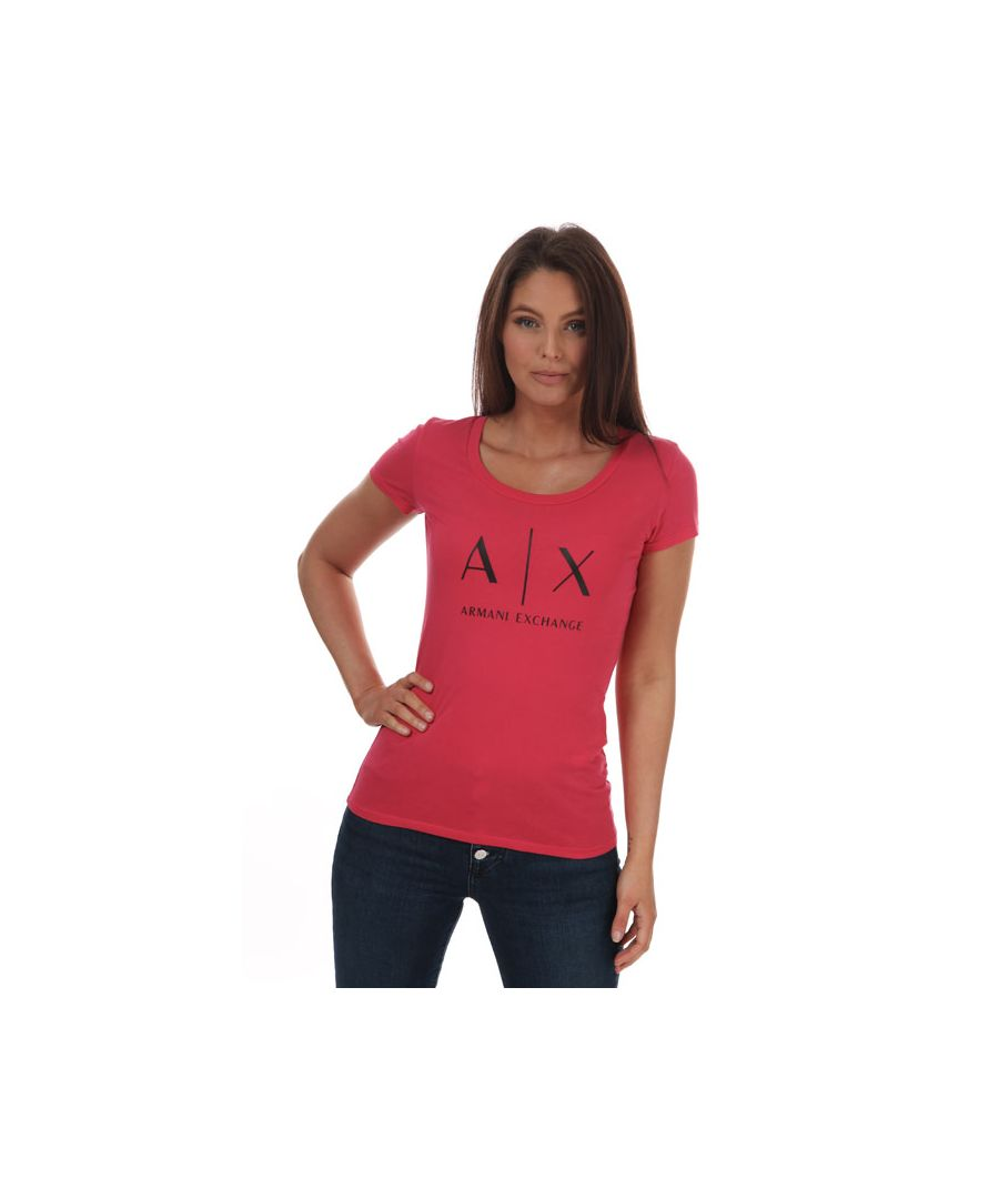 Image for Women's Armani Pima Cotton T-Shirt in Pink