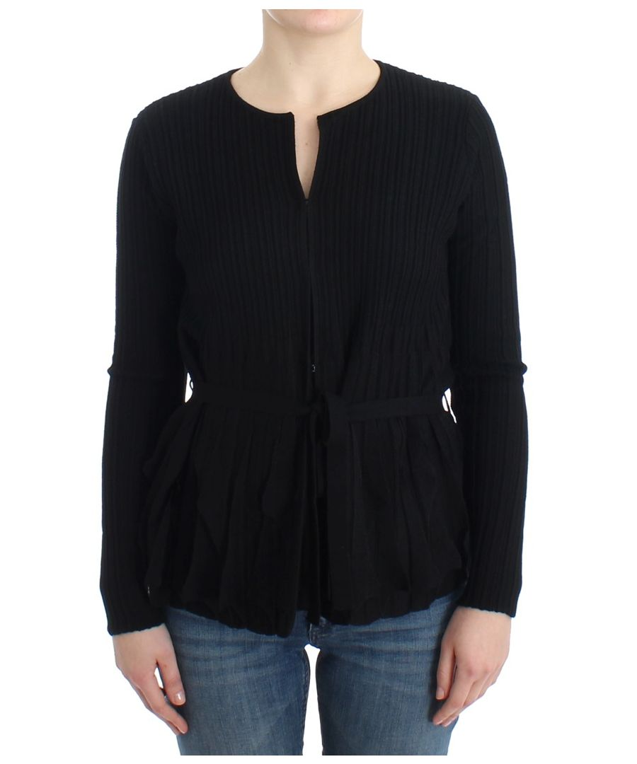 Image for Cavalli Black wool cardigan