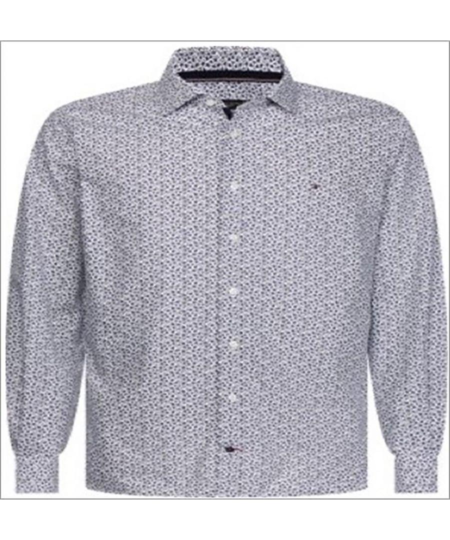 Image for Tommy Hilfiger Men's Shirt Floral in Blue