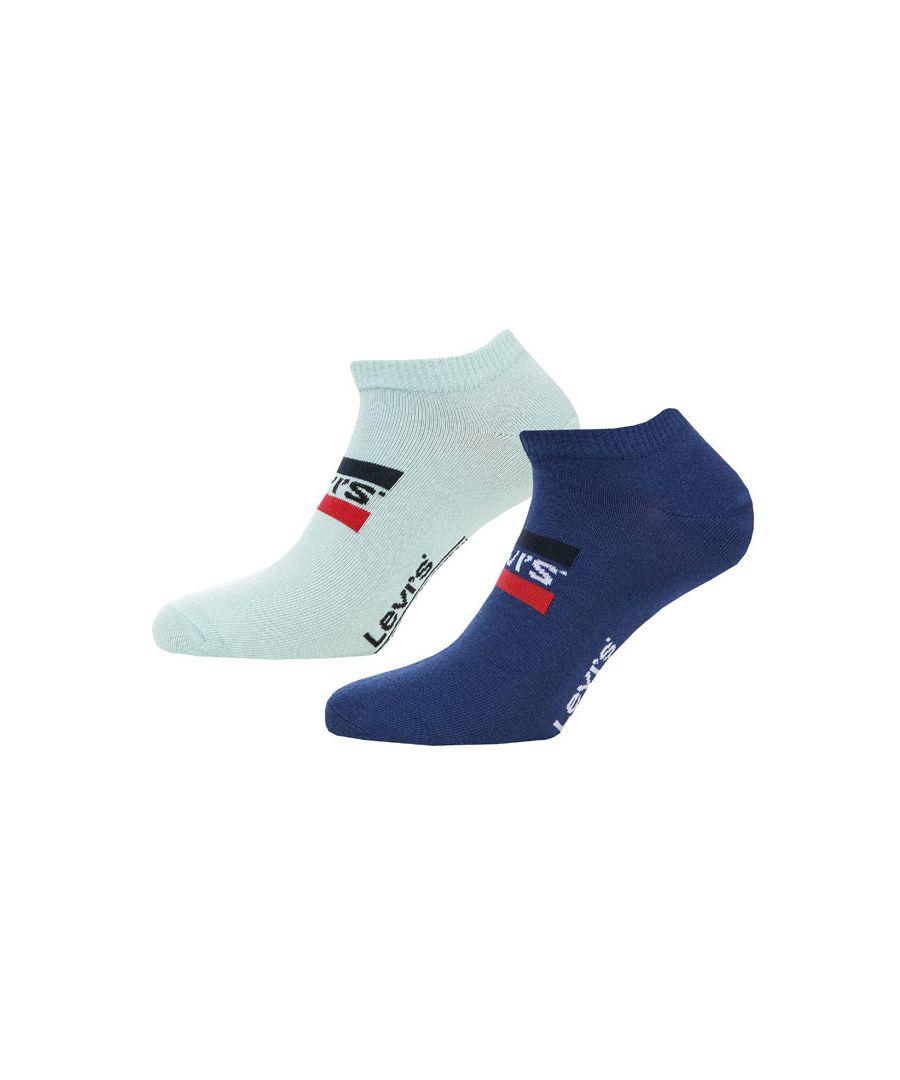 Image for Men's Levis Sports Logo Sneaker 2 Pack Socks in Blue