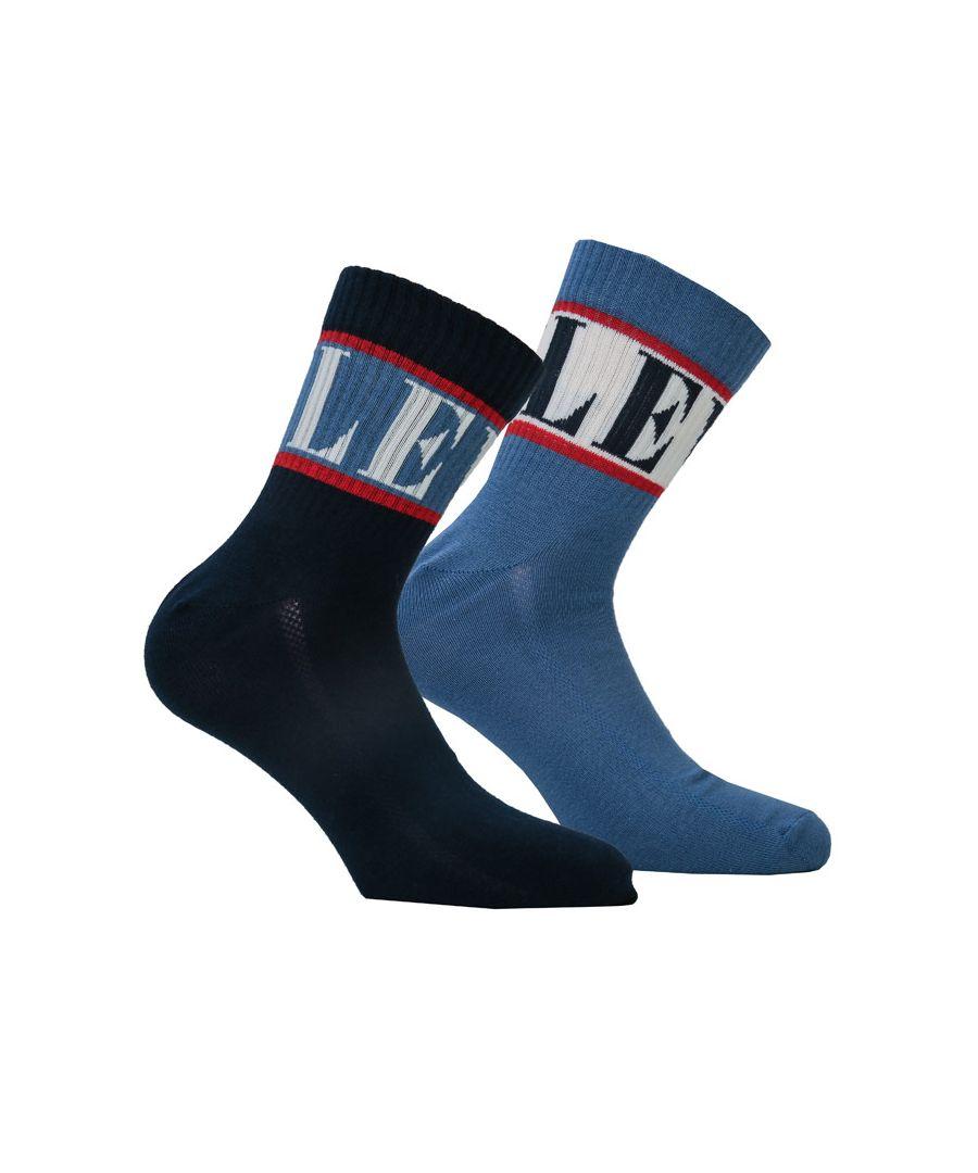 Image for Men's Levis Regular Cut 2 Pack Sports Socks in blue navy