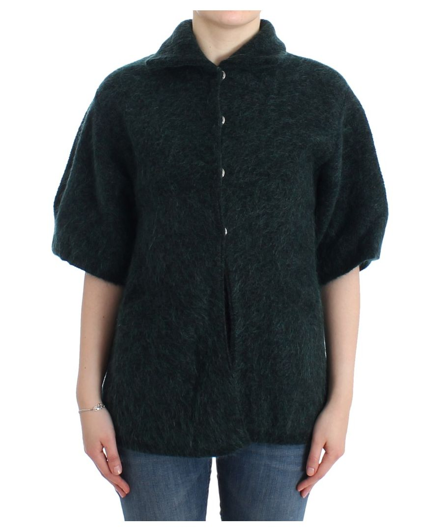 Image for Cavalli Green mohair knitted cardigan