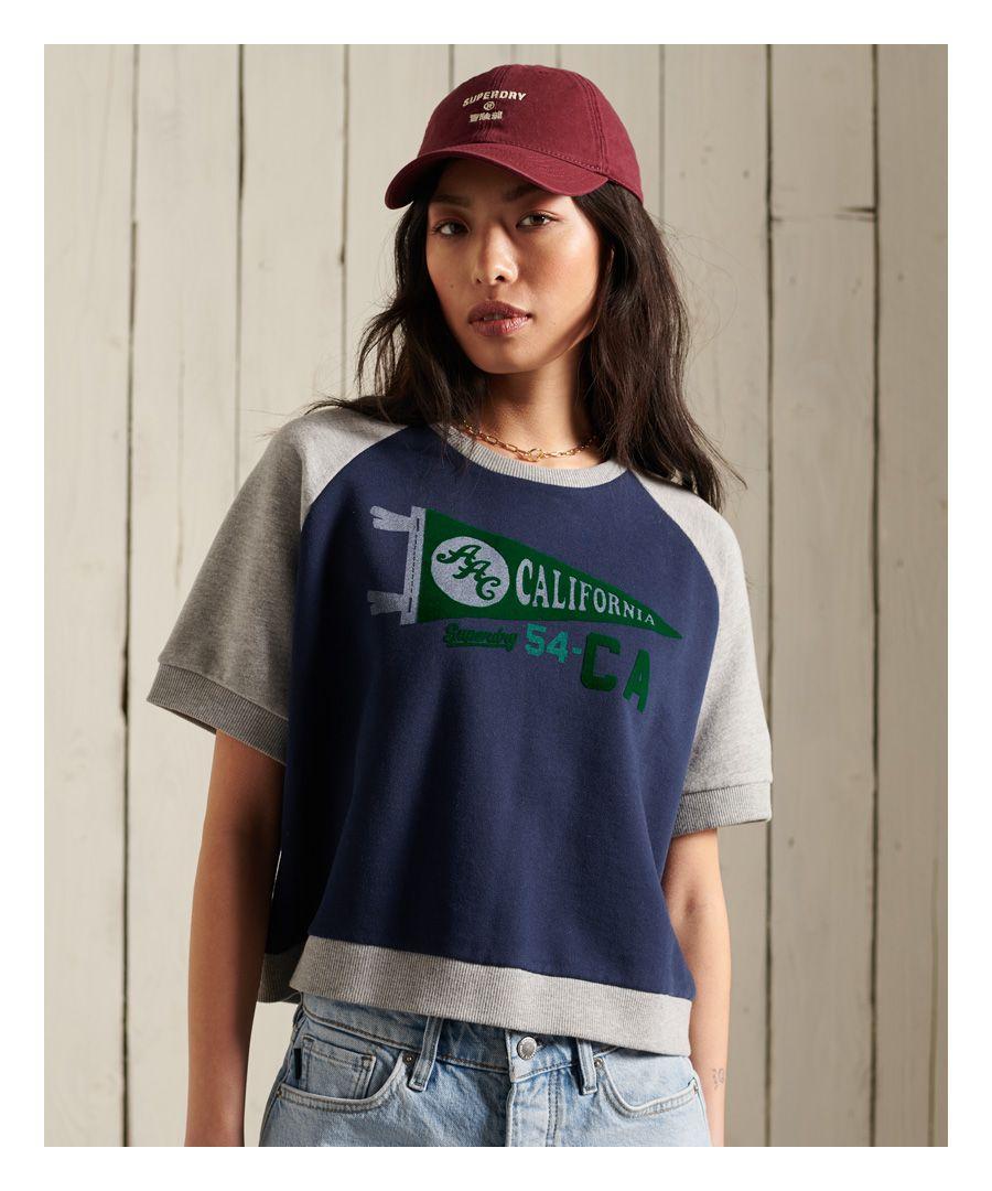 Image for SUPERDRY Collegiate Colour Block Sweat T-Shirt