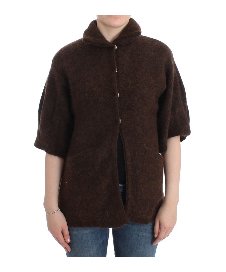Image for Cavalli Brown mohair knitted cardigan