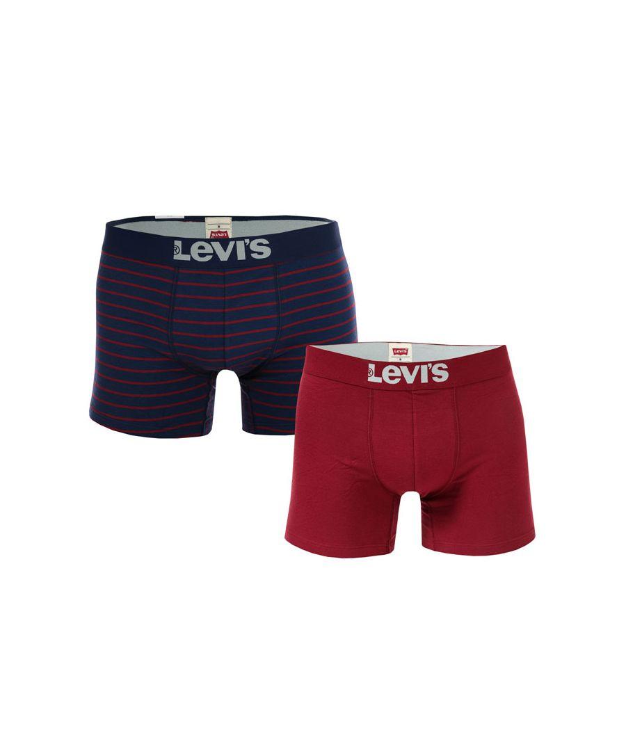 Image for Men's Levis Vintage Stripe 2 Pack Boxer Short in Blue