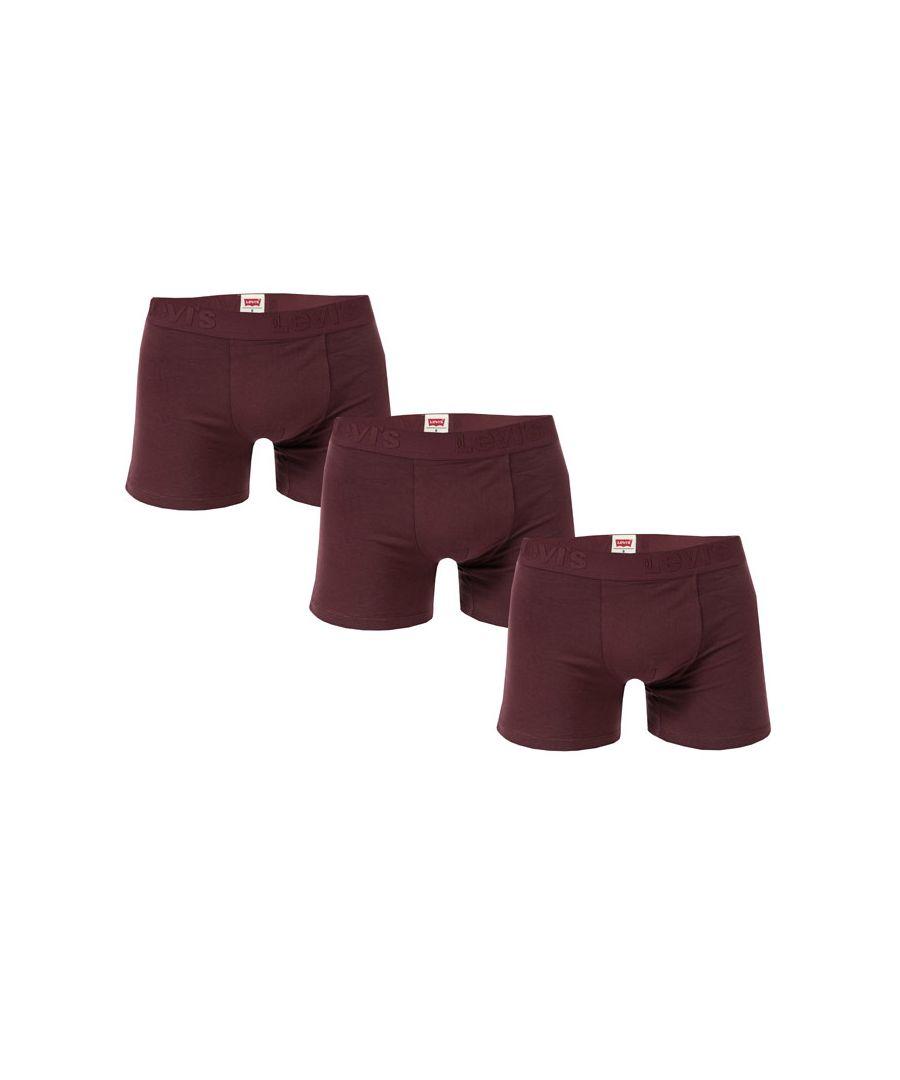Image for Men's Levis Premium 3 Pack Boxer Shorts in wine