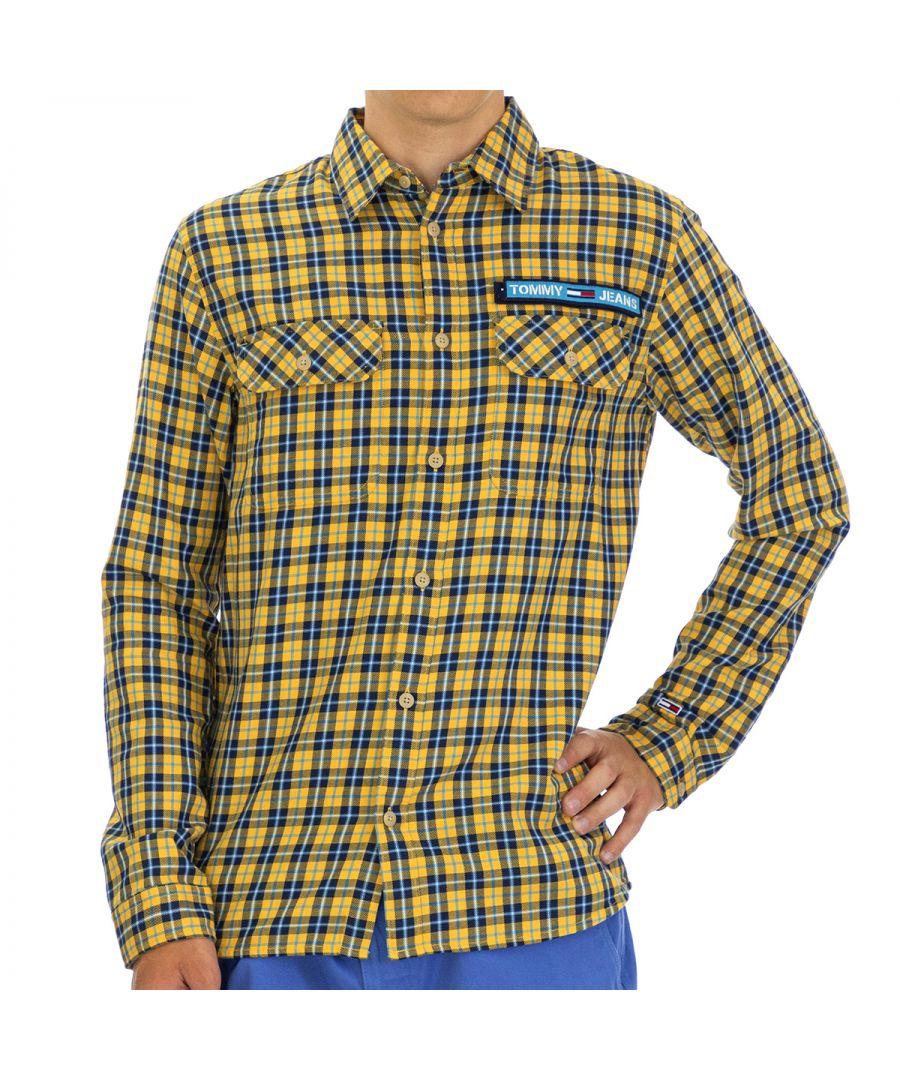 Image for Tommy Hilfiger Men's Shirt Regular Fit with Long Sleeve Multicolor