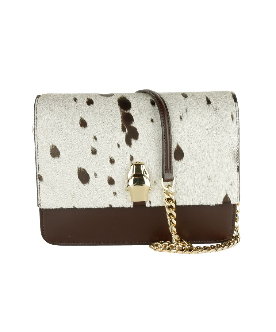 Image for Cavalli Class White/Brown Pony Shoulder Bag