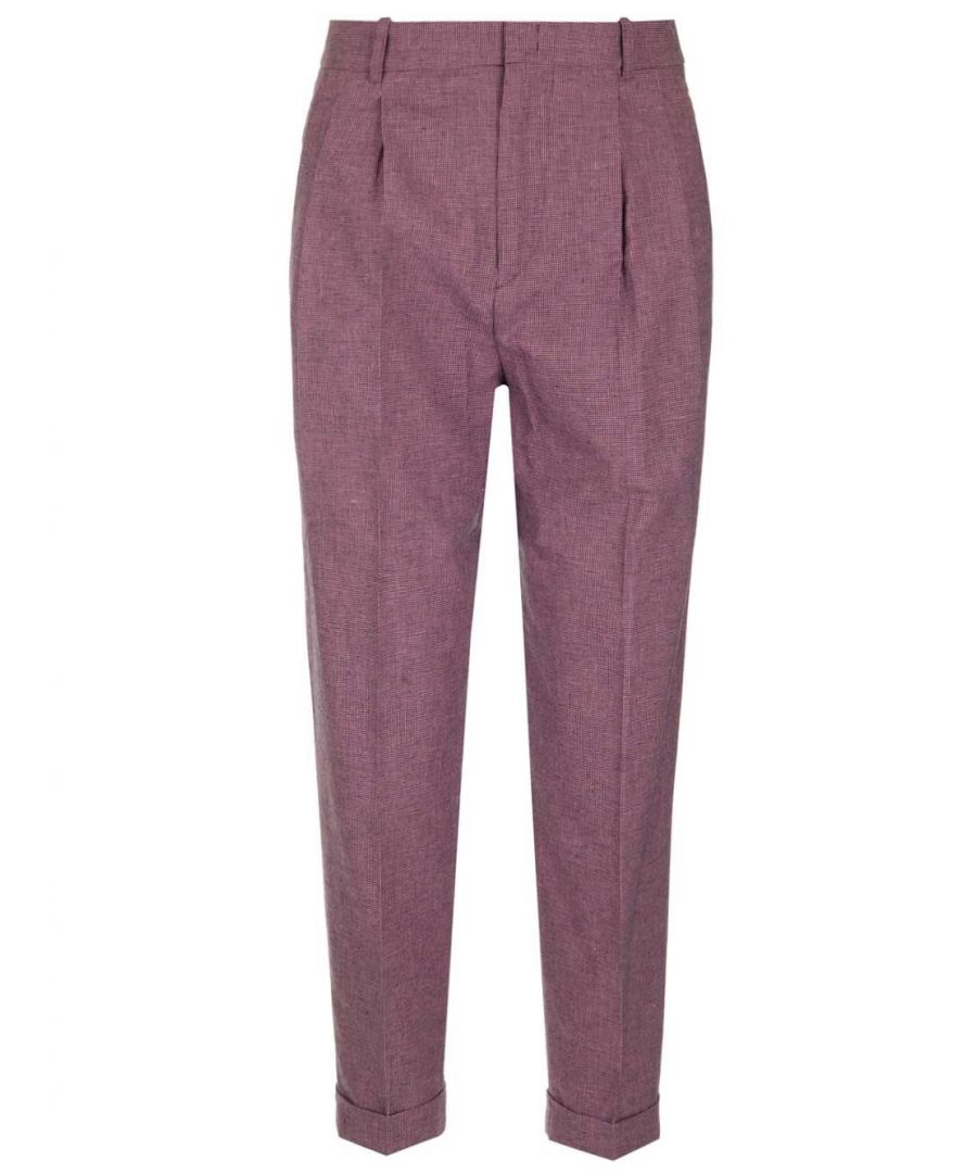 Image for ISABEL MARANT ÉTOILE WOMEN'S PA151420P011E40RW PINK COTTON PANTS