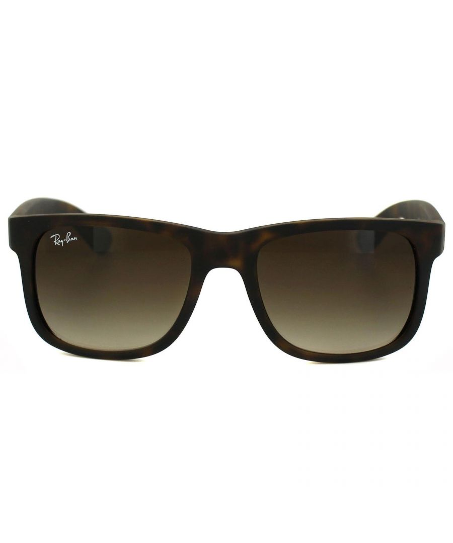 Image for Ray-Ban Sunglasses Justin 4165 710/13 Rubber Light Havana Brown Gradient 51mm