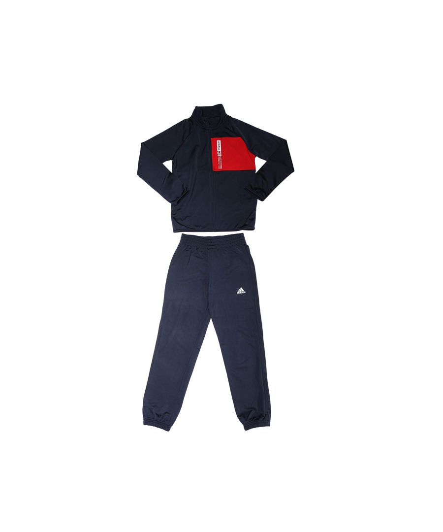 Image for Boy's adidas Junior Entry Tracksuit in Navy