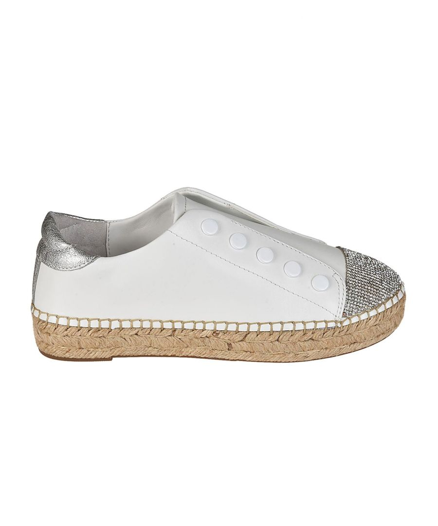 Image for KENDALL + KYLIE WOMEN'S JUNIPER203WHMLE WHITE LEATHER SLIP ON SNEAKERS