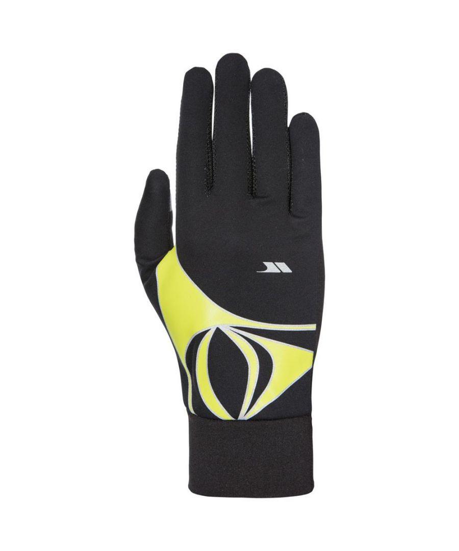 Image for Trespass Mens Runero Running Gloves (Black Kiwi)