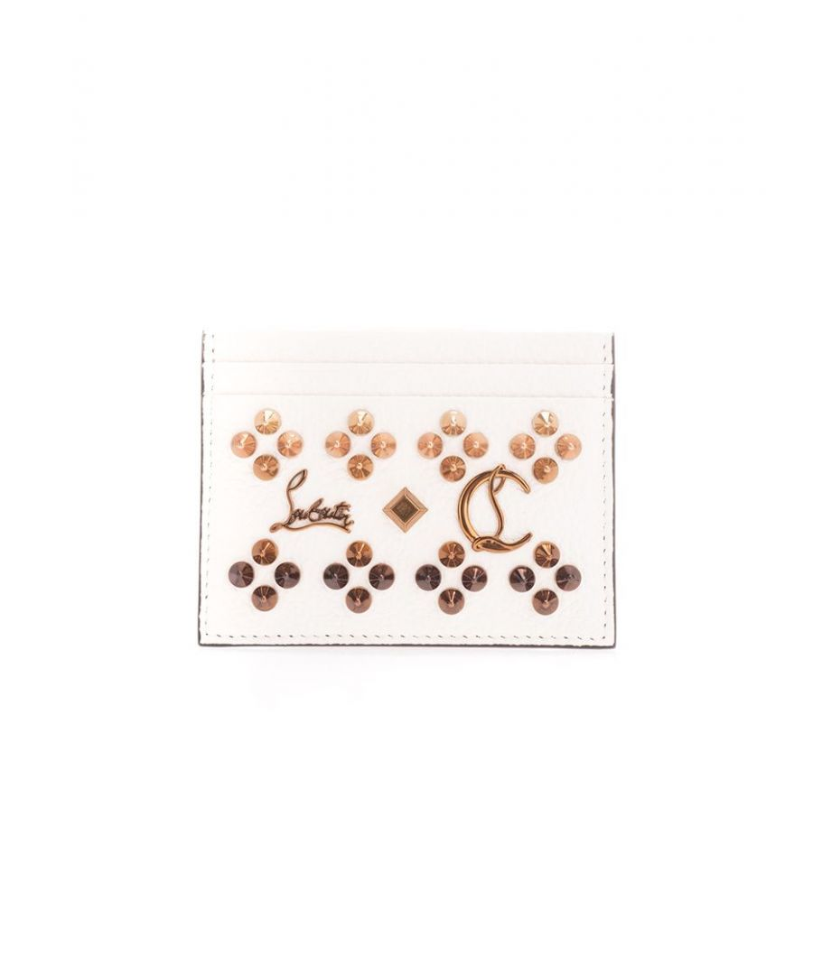 Image for CHRISTIAN LOUBOUTIN WOMEN'S 3175225Q703 WHITE LEATHER CARD HOLDER