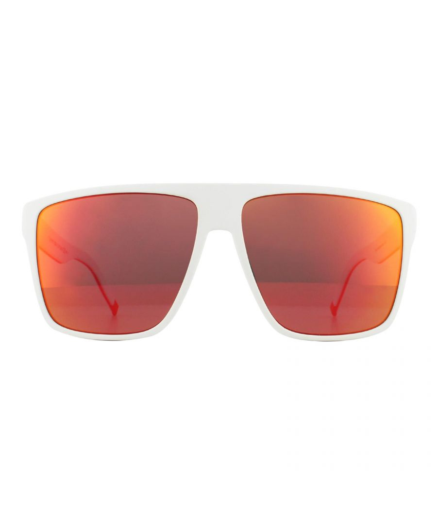 Image for Tommy Hilfiger Sunglasses TH 1717/S E0G UW Matte White Orange Mirror