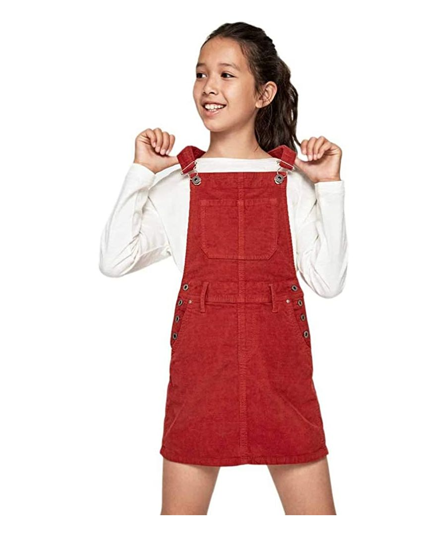 Image for Pepe Jeans Girls Bib Style Dress in Red