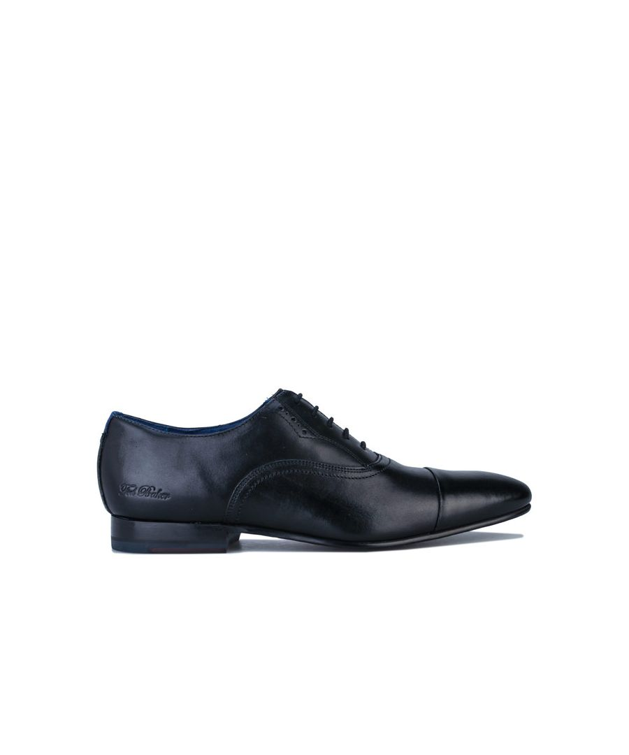 Image for Men's Ted Baker Murlain Leather Oxford Shoes in Black