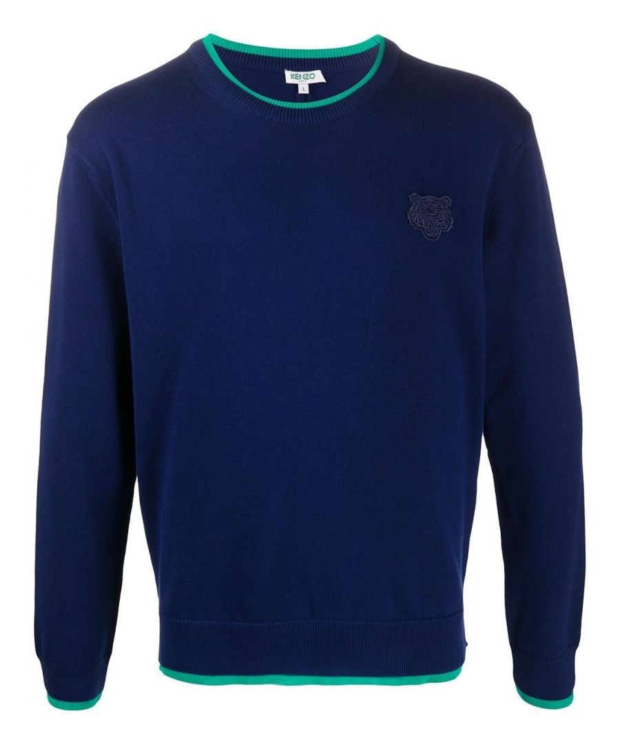 Image for KENZO MEN'S FA55PU2023AB77 BLUE COTTON SWEATER