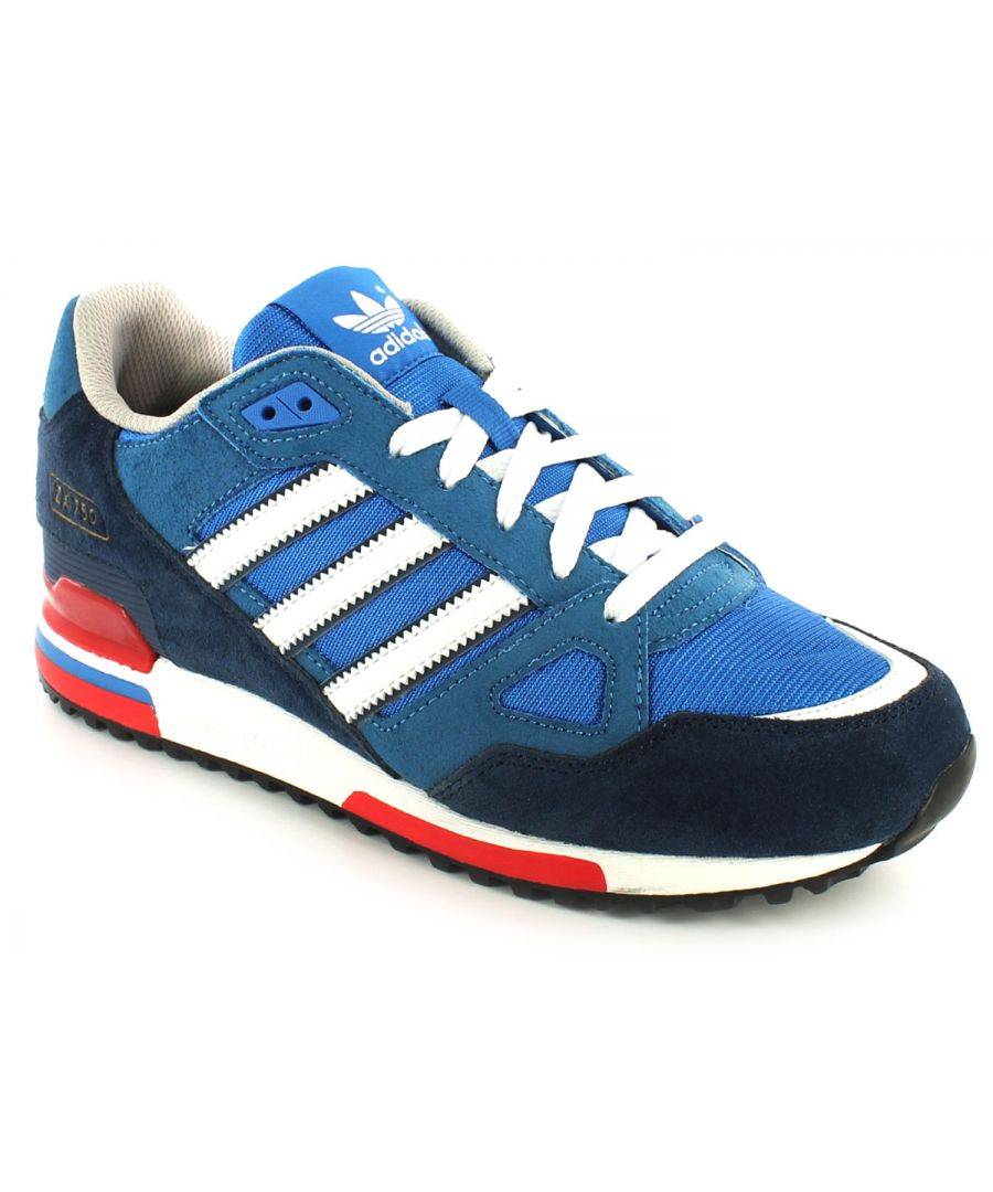 Image for New Mens/Gents Blue/White Adidas Leather Lightweight Running Shoes