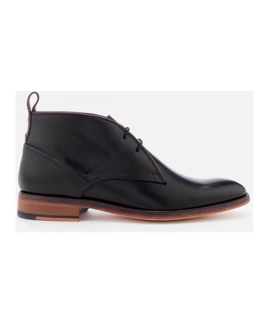 Image for Ted Baker Deksta Leather Ankle Boot, Black
