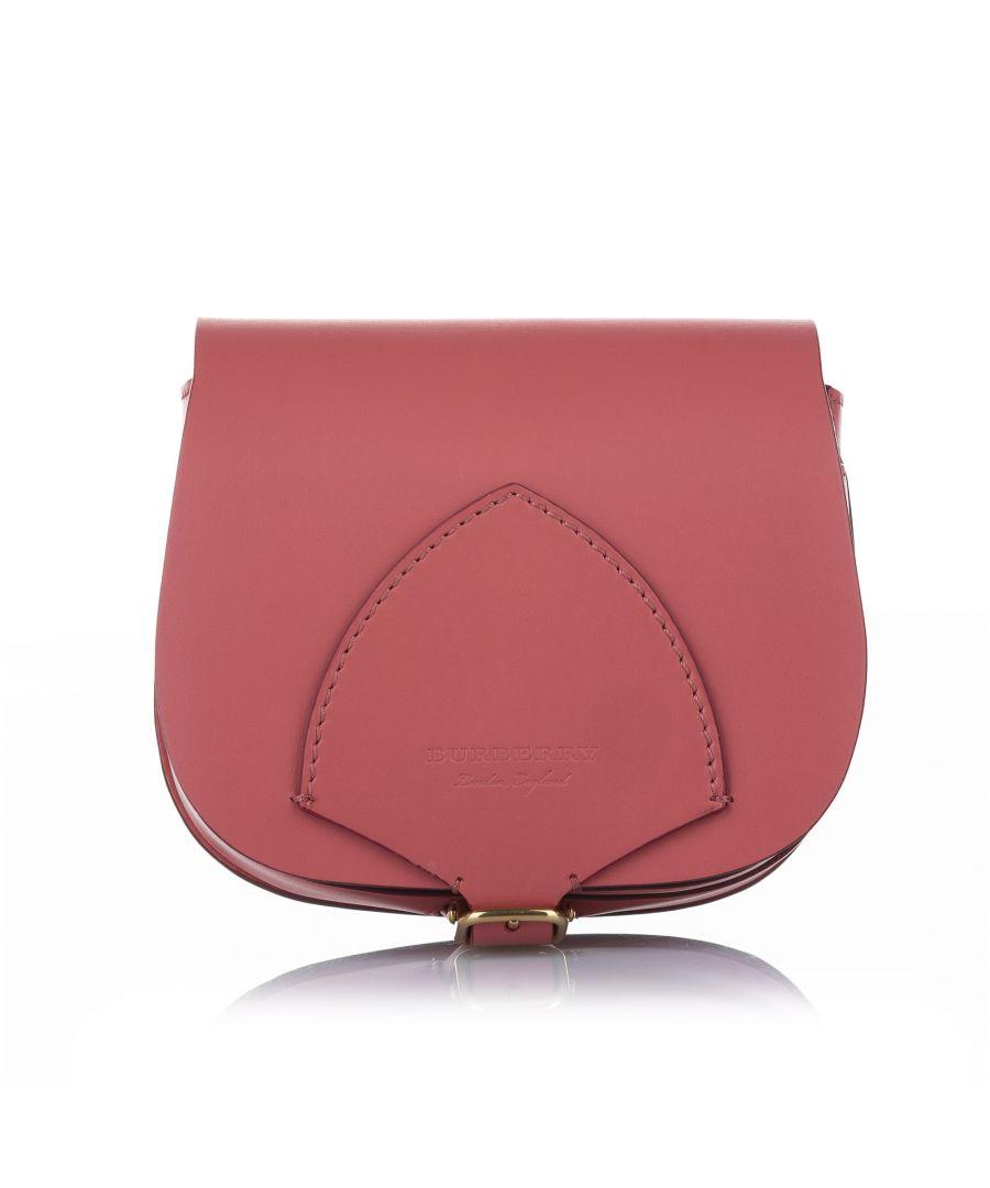 Image for Vintage Burberry Leather Crossbody Bag Pink