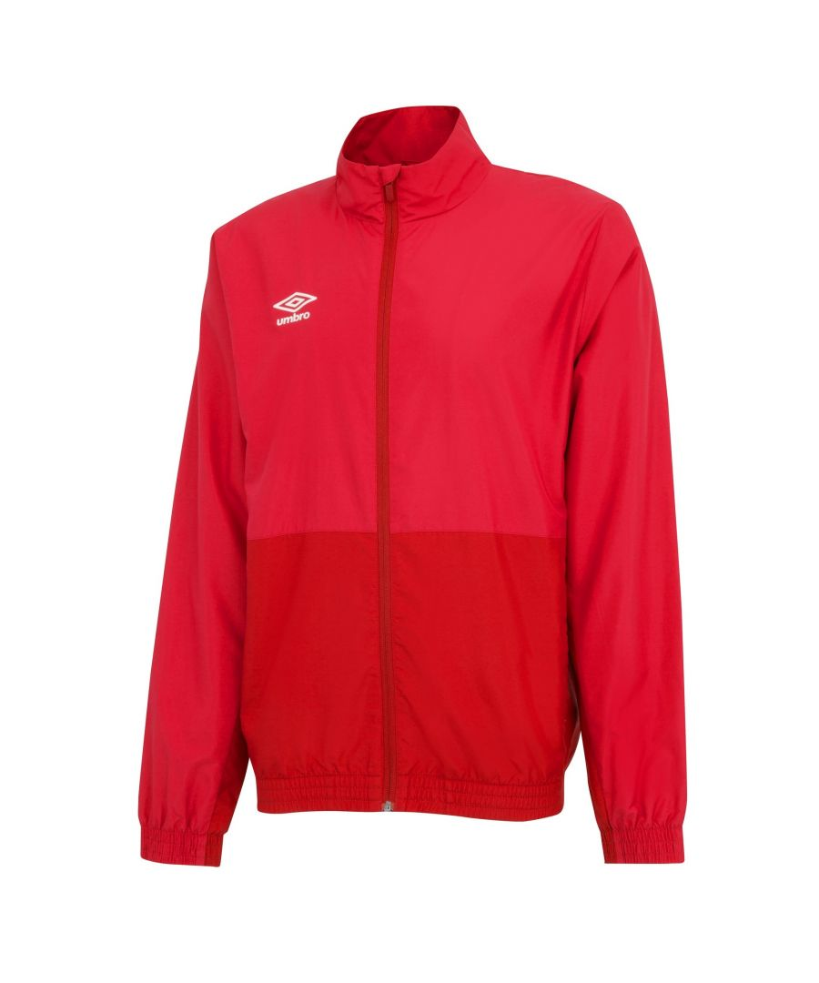 Image for Umbro Boys Woven Training Jacket (Vermillion/Jester Red)