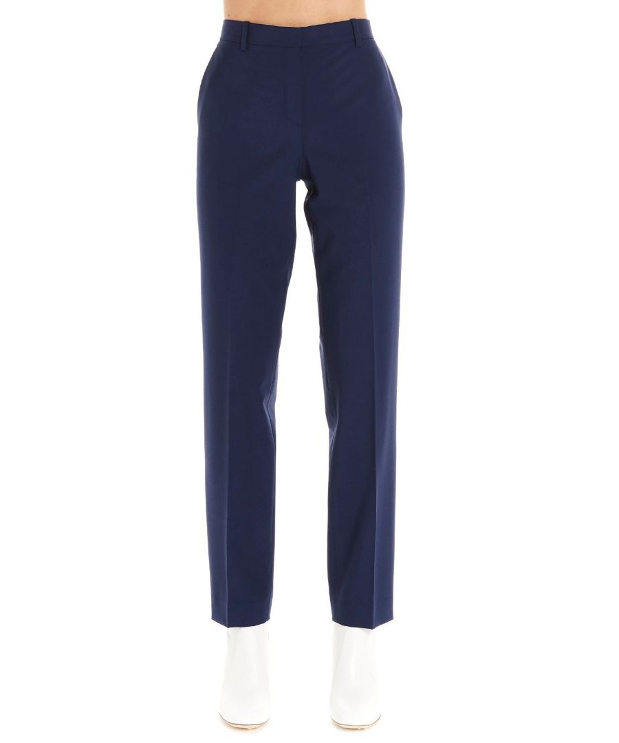 Image for THEORY WOMEN'S J0701214SEABLUE BLUE WOOL PANTS