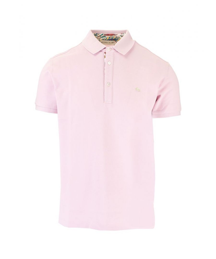 Image for ETRO MEN'S 1Y14292400652 PINK COTTON POLO SHIRT