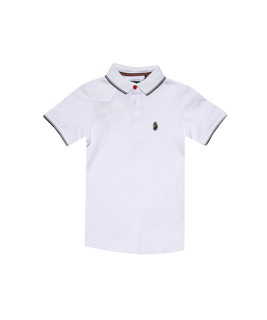 Image for Boys' Luke 1977 Infant Tip Off Polo Shirt in White Black
