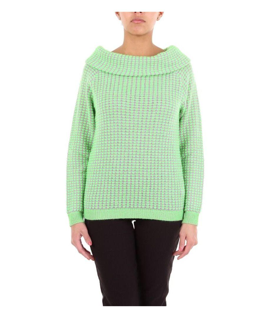 Image for BLUMARINE WOMEN'S 4266GREEN GREEN WOOL SWEATER