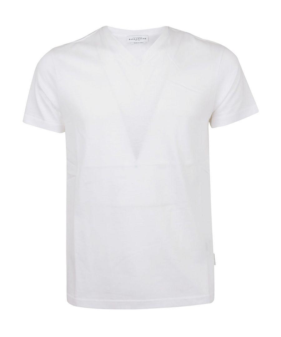 Image for BALLANTYNE MEN'S QMW066UCTJ610156 WHITE COTTON T-SHIRT