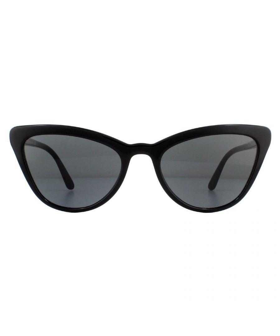 Image for Prada Sunglasses PR01VS 1AB5S0 Shiny Black Grey
