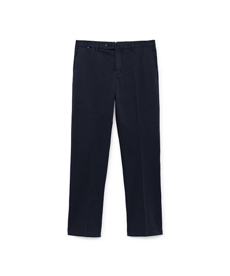 Image for Men's Hackett Contemporary Slim Fit Chinos in Navy