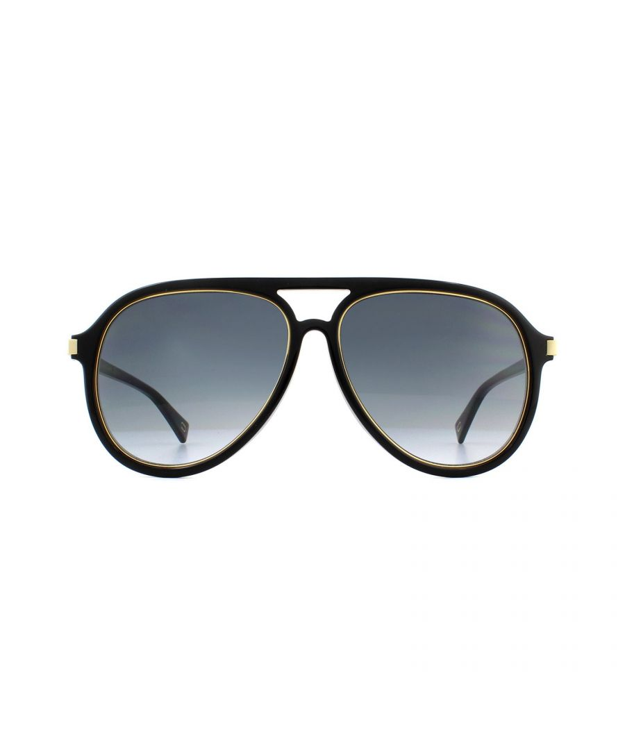 Image for Marc Jacobs Sunglasses MARC 174/S 2M2 9O Black Gold Dark Grey Gradient