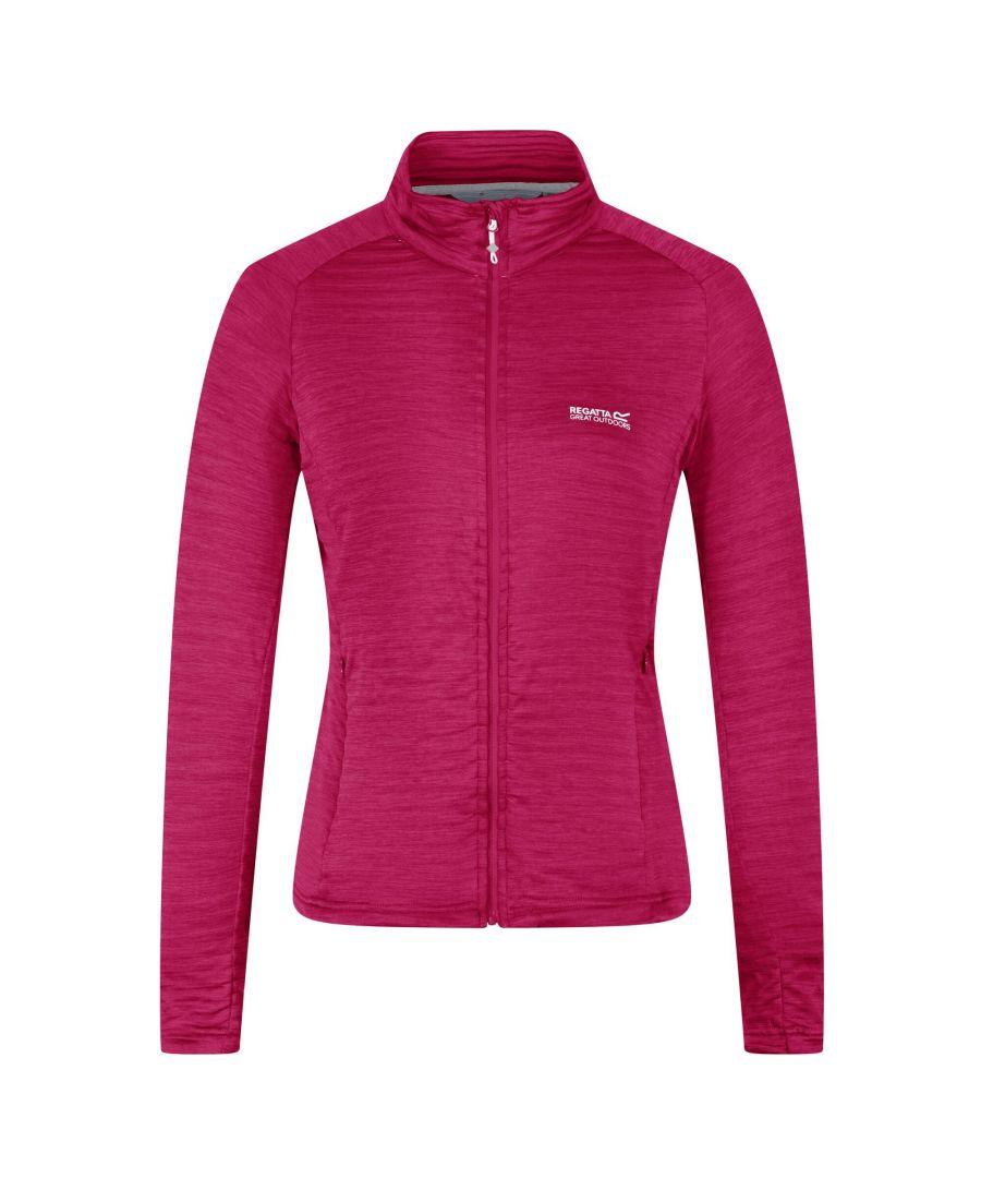 Image for Regatta Womens/Ladies Highton Lite Full Zip Soft Shell Jacket (Dark Cerise)