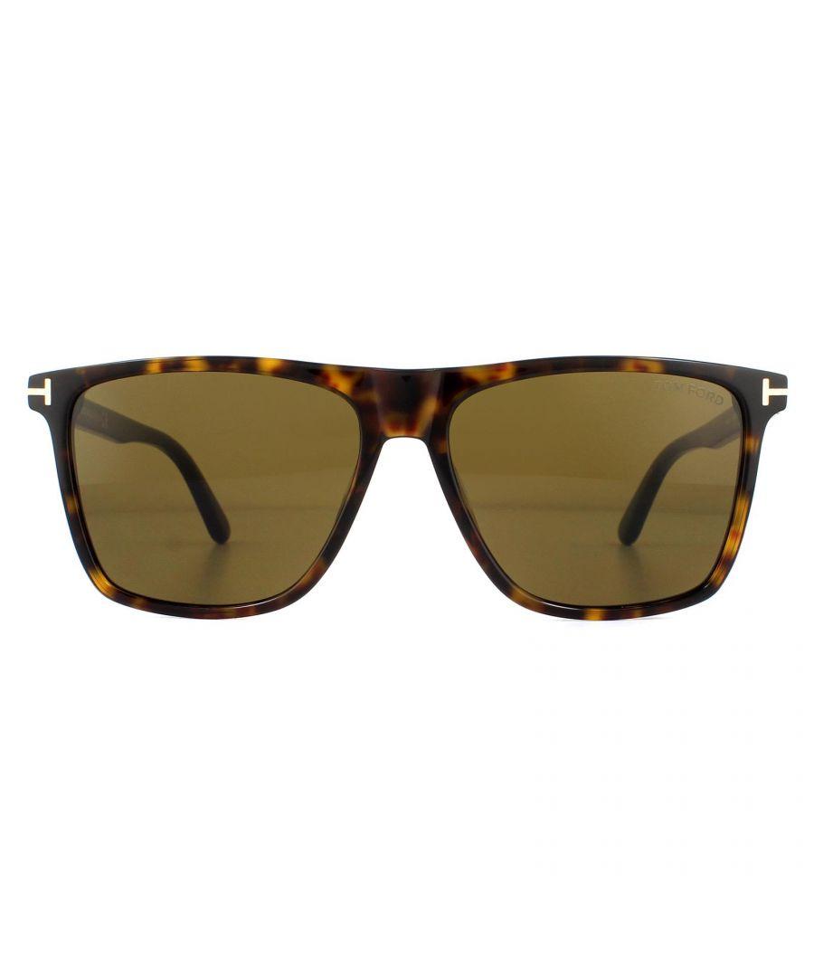 Image for Tom Ford Sunglasses Fletcher FT0832 52J Dark Havana Roviex Brown