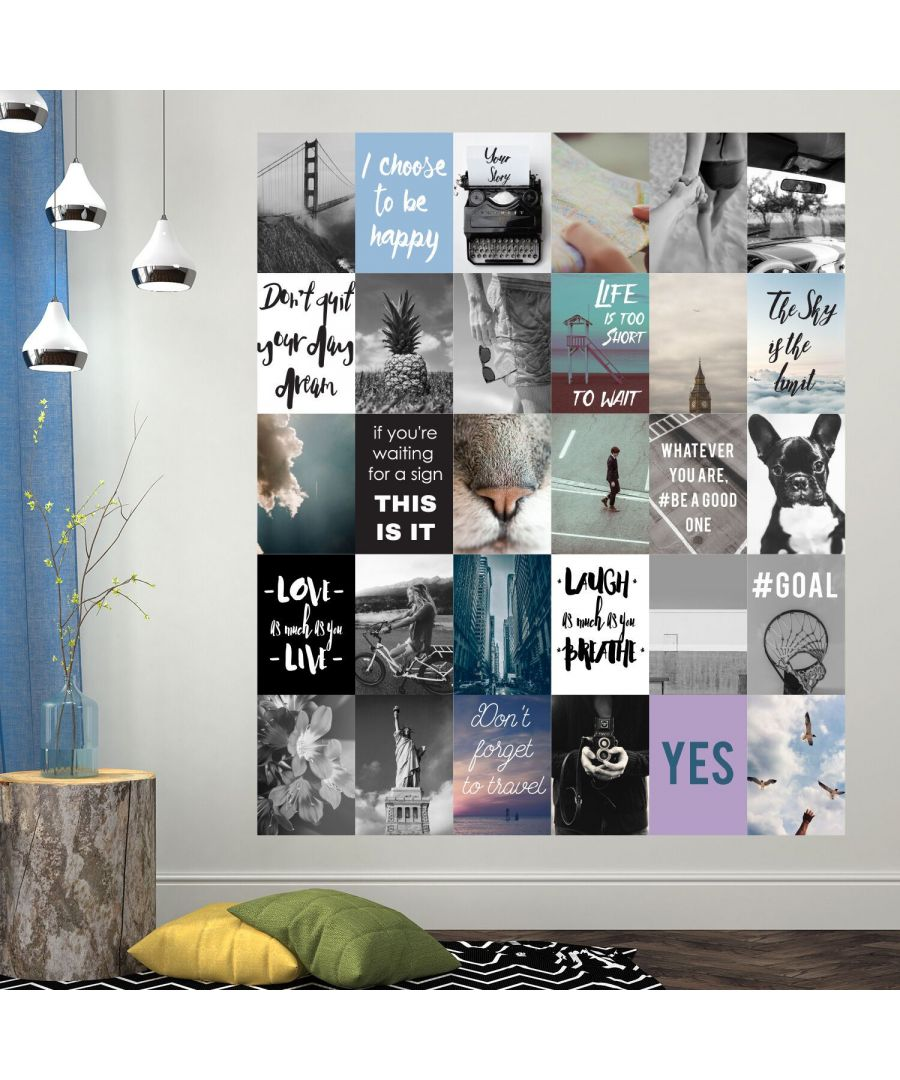 Image for Travel Collage Mural Wall Sticker Wall Decorations 30 pieces ( 20cm x 30cm )