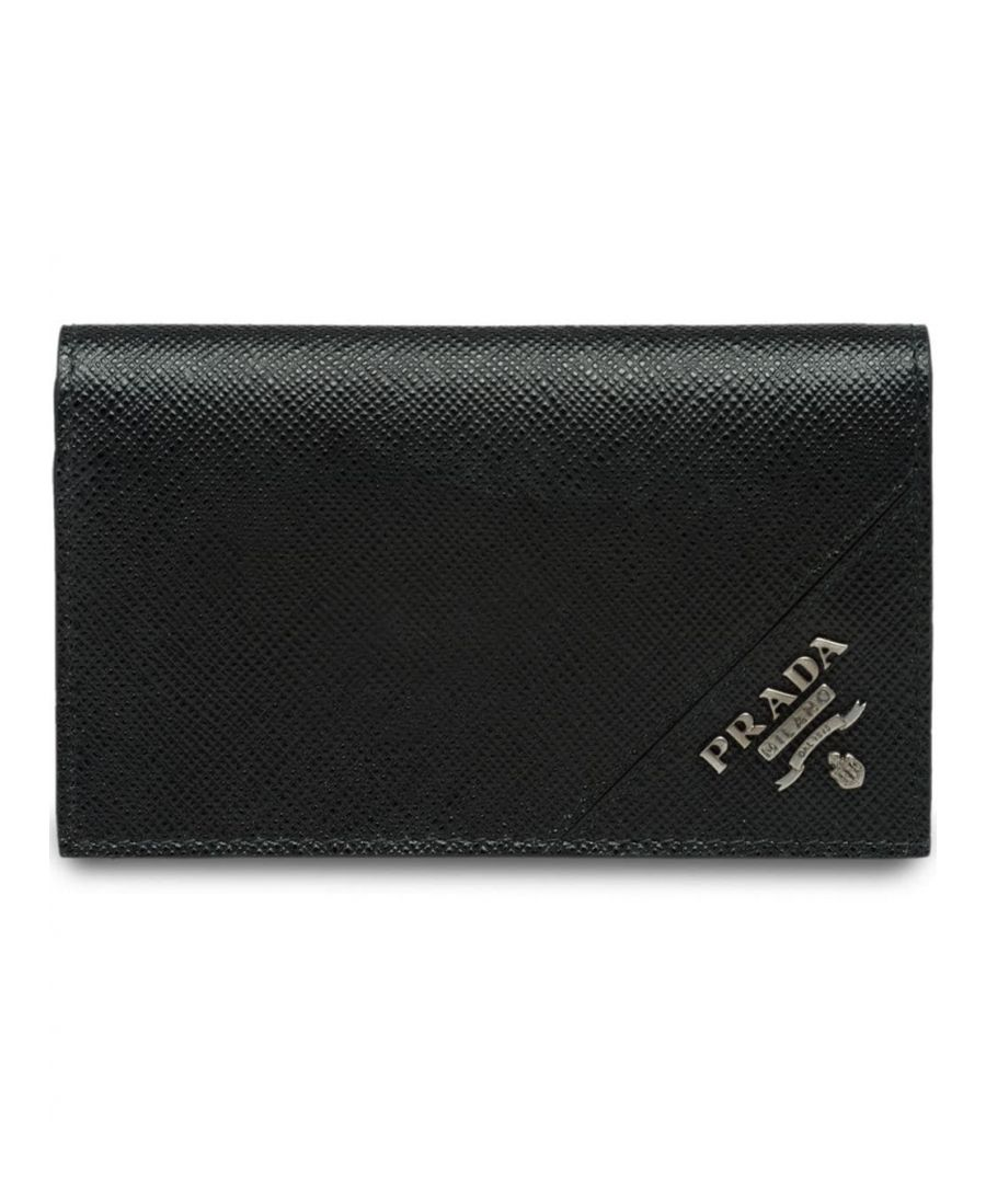 Image for PRADA MEN'S 2MC122QMEF0002 BLACK LEATHER WALLET