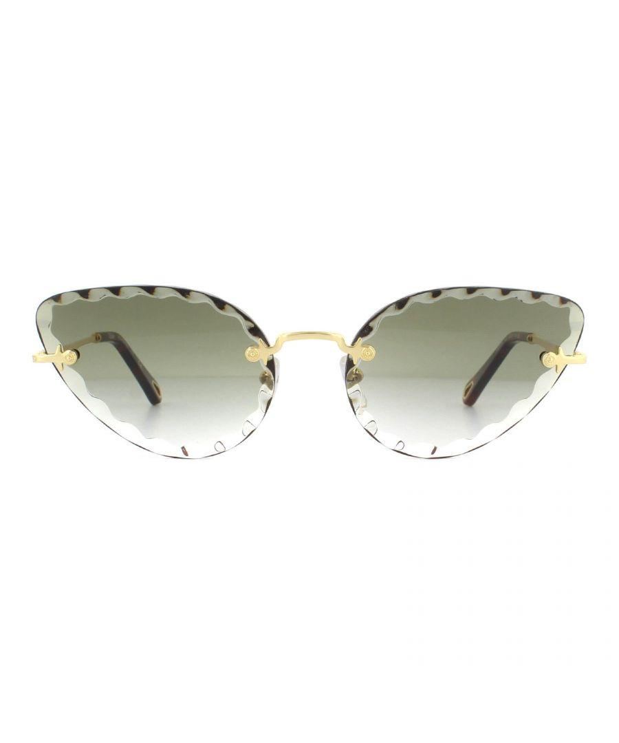 Image for Chloe Sunglasses CE157S 825 Gold Khaki Gradient