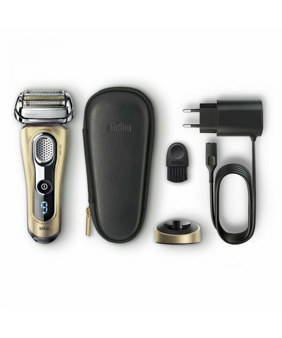 Image for Braun 9299s Series 9 Electric Shaver with Charging Stand & Travel Case, Gold