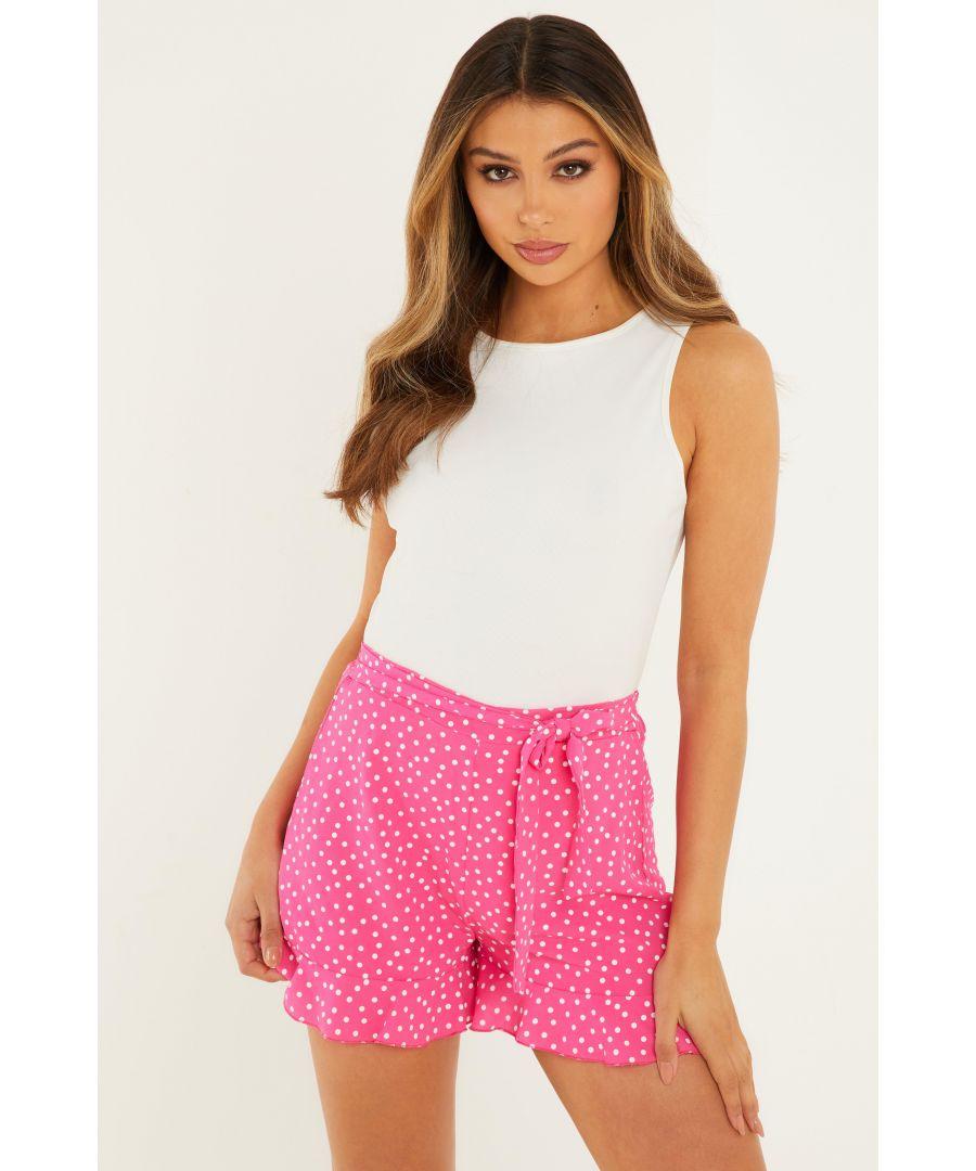Image for Pink & White Polka Dot Shorts