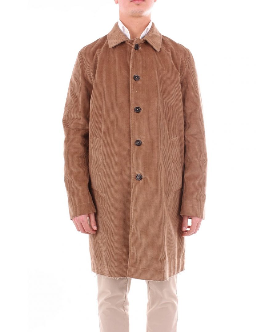 Image for MAURO GRIFONI MEN'S GD160003V33BROWN BROWN OTHER MATERIALS COAT