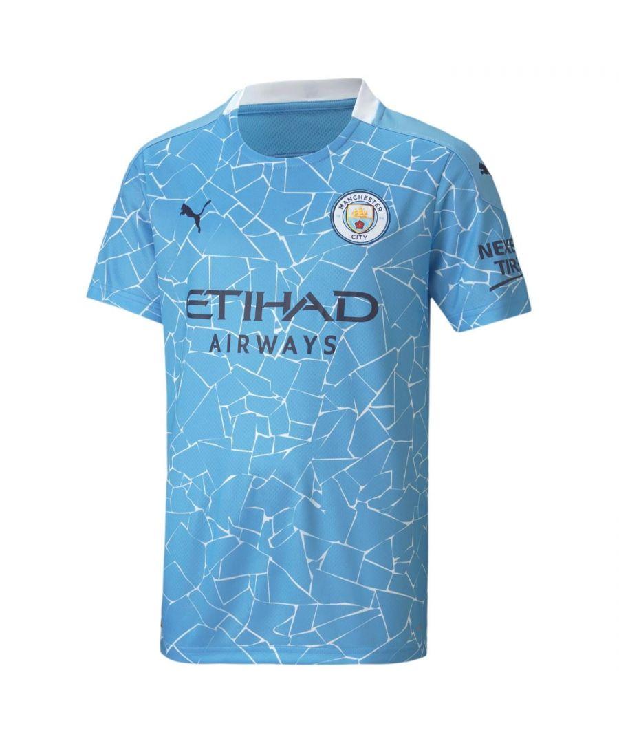 Image for Puma Kids Manchester City Home Shirt 2020-2021 Junior Football Domestic Top