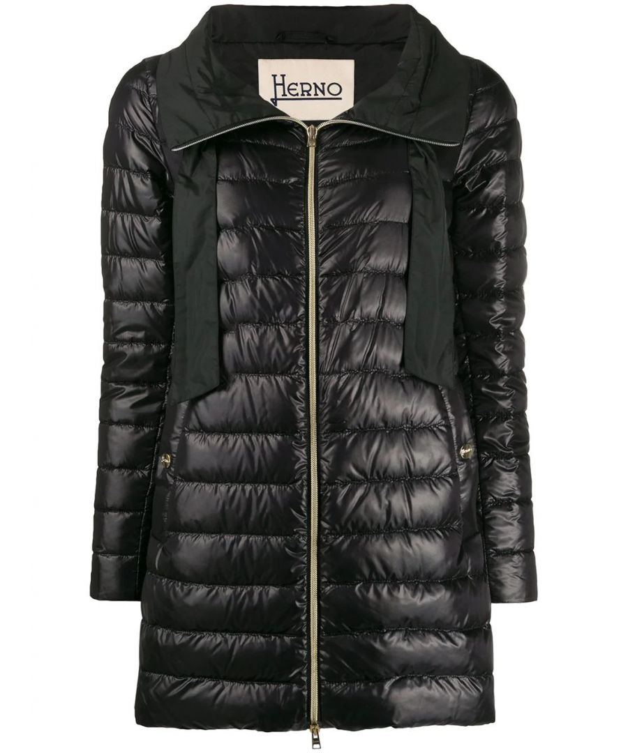 Image for HERNO WOMEN'S PI1066D120179300 BLACK POLYESTER DOWN JACKET