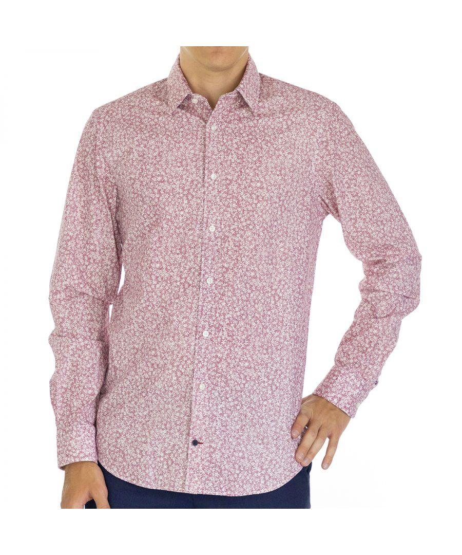 Image for Tommy Hilfiger Men Shirt Floral Slim Fit  Full sleeve Multicolor