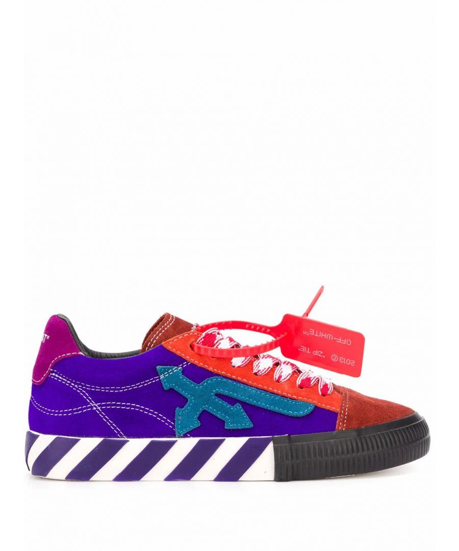 Image for OFF-WHITE WOMEN'S OWIA216S20LEA0018445 PURPLE LEATHER SNEAKERS