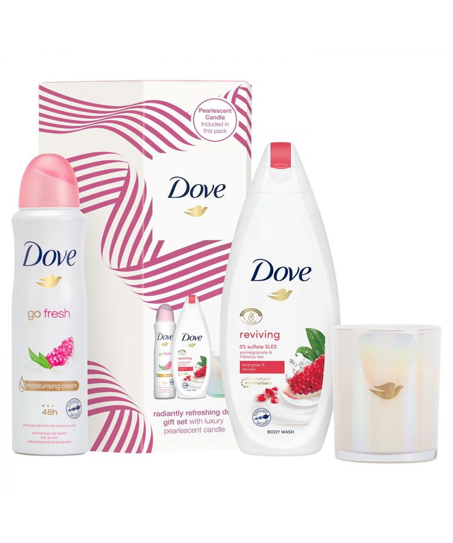 Image for Dove Radiantly Refreshing Duo Gift Set With Luxury Candle
